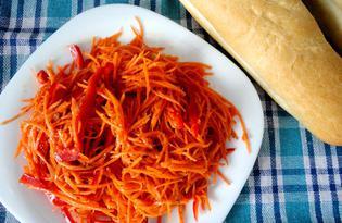 Морковь по-корейски с болгарским перцем (пошаговый фото рецепт)