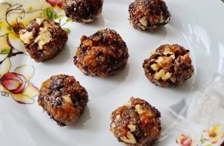 Сухофрукты с медом и орехами (пошаговый фото рецепт)