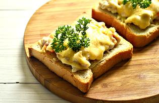 Горячие бутерброды с курицей и креветками (пошаговый фото рецепт)