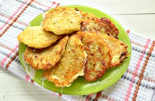 Деруны из кабачков и картофеля (пошаговый фото рецепт)