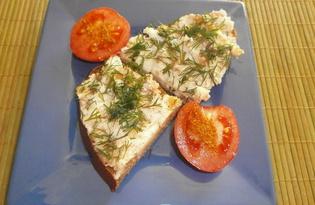 Бутерброды с пастой из сала (пошаговый фото рецепт)