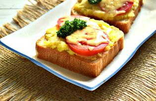 Горячие бутерброды с картофелем и помидорами (пошаговый фото рецепт)
