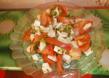 Салат с помидорами, яблоком и дайконом (пошаговый фото рецепт)