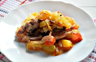 Овощное рагу с домашней куриной тушенкой (пошаговый фото рецепт)