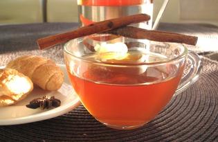 Черный чай с сухофруктами, имбирем и корицей (пошаговый фото рецепт)