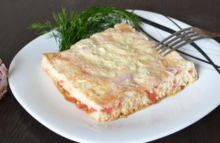 Омлет с помидорами на сковороде (пошаговый фото рецепт)