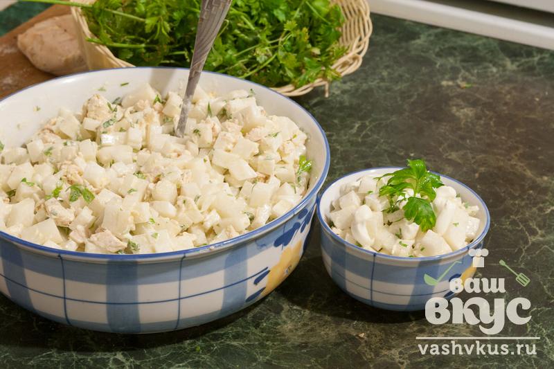 салат из белого редиса рецепты