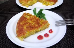 Макаронная бабка на сковороде (пошаговый фото рецепт)