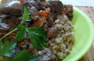 Куриная печень по-болгарски (пошаговый фото рецепт)