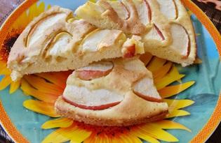 Простой пирог с яблоком в духовке (пошаговый фото рецепт)
