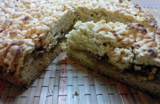 Тертый пирог с яблоками и корицей (пошаговый фото рецепт)