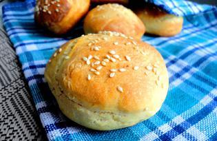 Вкусные булочки для гамбургеров (пошаговый фото рецепт)