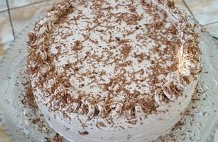 Торт бисквитный со сметанным кремом и фруктами (пошаговый фото рецепт)
