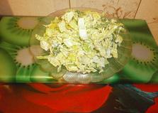 Салат из савойской капусты и лука порея (пошаговый фото рецепт)