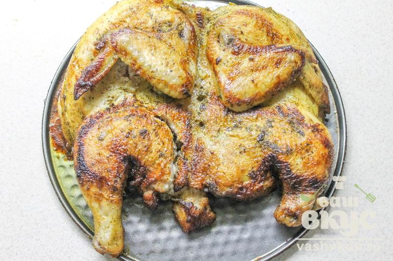 Курица табака на сковороде с фото пошагово