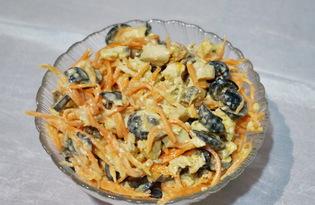 Салат с корейской морковкой и курицей (пошаговый фото рецепт)
