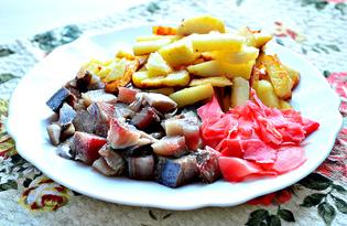 Закуска из картофеля, сельди и маринованного имбиря (пошаговый фото рецепт)