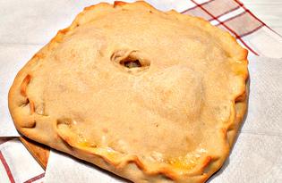 Пирог с картофелем и фаршем (пошаговый фото рецепт)