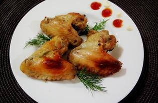 Румяные крылышки в духовке (пошаговый фото рецепт)