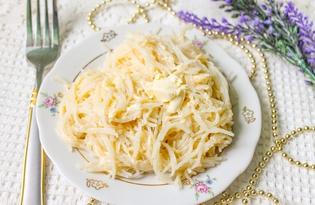 Отварная вермишель с маслом и сыром (пошаговый фото рецепт)