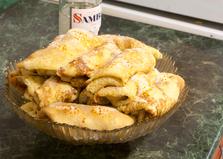 Сладкие блины с бананом и хурмой (пошаговый фото рецепт)