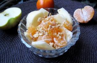 Салат из мандаринов с яблоками (пошаговый фото рецепт)