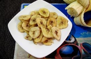Банановые чипсы в духовке (пошаговый фото рецепт)