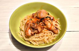 Курица в томатно-чесночной заправке (пошаговый фото рецепт)
