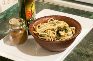 Паста с курицей и шпинатом (пошаговый фото рецепт)