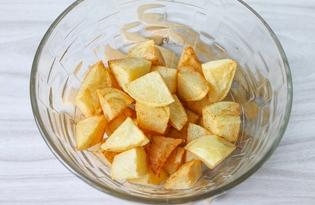 Картофель кусочками во фритюре (пошаговый фото рецепт)