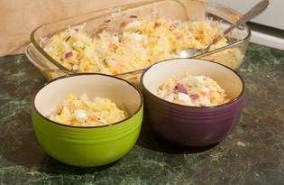 Салат из редьки с яйцом (пошаговый фото рецепт)