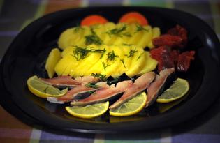 Закуска из сельди с картофелем (пошаговый фото рецепт)