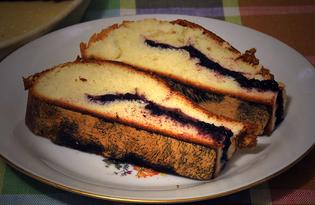 Пирог с черемухой по-деревенски (пошаговый фото рецепт)