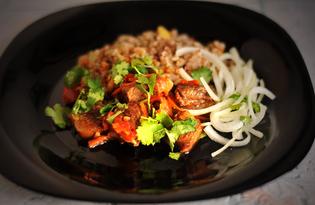Баранина с овощами по-деревенски (пошаговый фото рецепт)