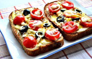 Мини - пиццы с маслинами и курицей (пошаговый фото рецепт)
