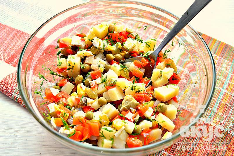 салат с корнишонами рецепты с фото