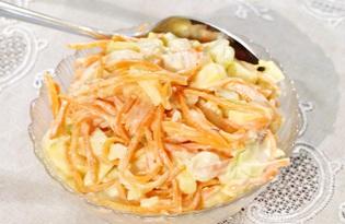 Салат с курицей, корейской морковкой и перцем (пошаговый фото рецепт)
