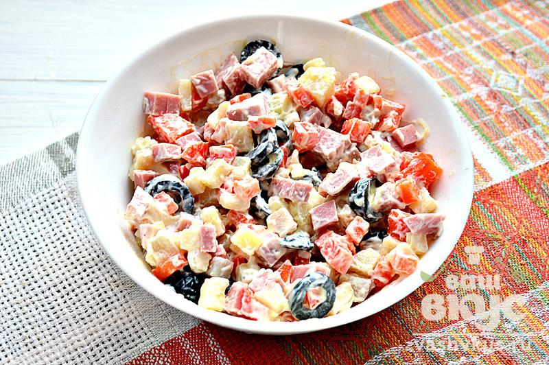 салат из фасоли с маслинами рецепт с фото
