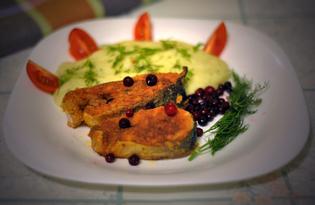 Стейки из горбуши в панировке (пошаговый фото рецепт)