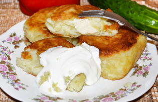 Картофельные котлеты из пюре (пошаговый фото рецепт)