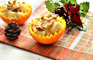 Салат с апельсинами и грецкими орехами (пошаговый фото рецепт)