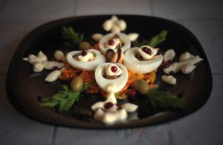 Салат с мидиями «Снежинка» (пошаговый фото рецепт)