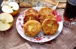 Сырники с яблоком и корицей (пошаговый фото рецепт)
