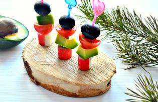Канапе с крабовыми палочками и авокадо (пошаговый фото рецепт)