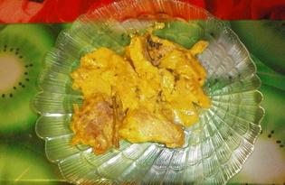 Свинина, жаренная с майонезом и мятой (пошаговый фото рецепт)