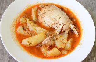 Картофельный соус с куриными окорочками (пошаговый фото рецепт)