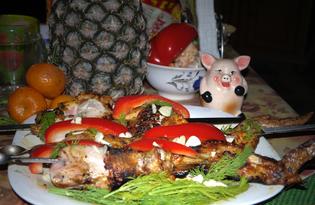 Шашлык из курицы «Новогодний» (пошаговый фото рецепт)