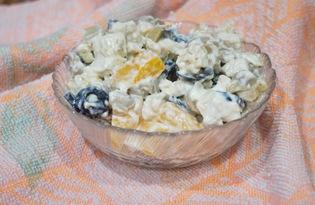 Салат с курицей, грибами и апельсинами (пошаговый фото рецепт)