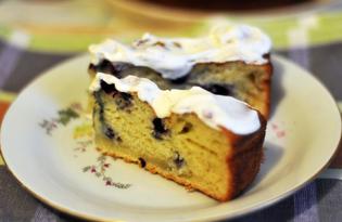 Пирог на кефире со смородиной (пошаговый фото рецепт)