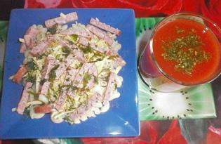 Макароны с салями, твердым сыром и укропом (пошаговый фото рецепт)